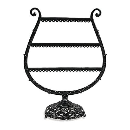 EATAN Corazón/Copa de Vino Forma Pendientes Pulsera Estante de Almacenamiento de la Joyería Soporte de Exhibición de la Oreja Stud Stand Astas Árbol joyería Organizador exhibiciones de la joyería