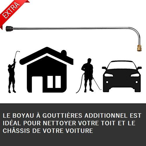 Wilks-USA RX550 - Nettoyeur Haute Pression Électrique Très Puissant 262Bar pour Voiture, Vélo,...