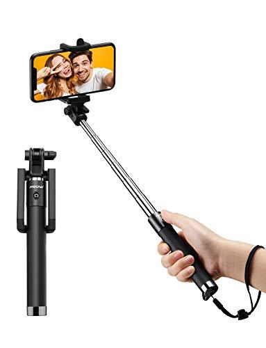 Mpow Selfie Stick Bluetooth Handy Stange 31,9 Zoll, Selfie Stab mit verstellbarer Handyhalterung, Handy Stick für iPhone 11 pro iPhone X iPhone 8, Galaxy S20 S20+ S10, huawei p30, bis zur 6,8 Zoll