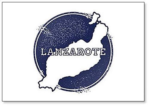 Lanzarote Outline Kaart Illustratie - Klassieke Koelkast Magneet