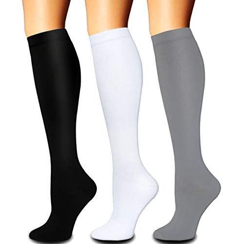 Compression Socks for Women and Men(1/3 Pairs)-Best for Running,Nursing,Circulation,Recovery & Travel (Multicoloured2 - 3 Pairs, Small/Medium)
