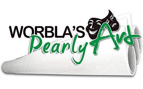Worblas Perl / Pearly Art Platte Größe S (50x37,5cm Bastel Cosplay) thermoplastischer Werkstoff
