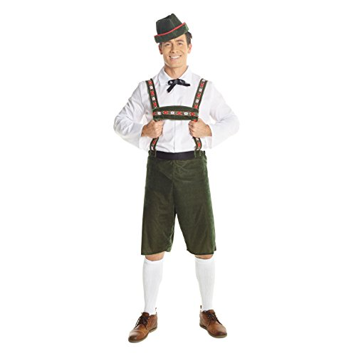 Morph Lederhosen Disfraz Alemán para Hombre Disfraz de Cerveza Oktoberfest - X-Grande (46-48 Pulgadas / 117-122 cm Pecho)