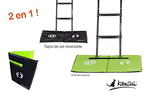Kangui - Tapis de Sol Universel pour Trampoline - Réversible Noir ou Vert