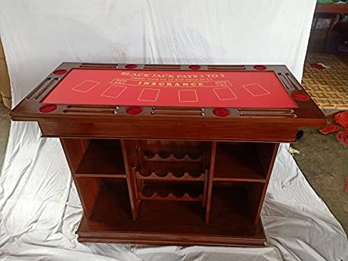 Kunibert Pokerspieltischbar – Poker/Roulette/Würfel/Blackjack/Theke - 2
