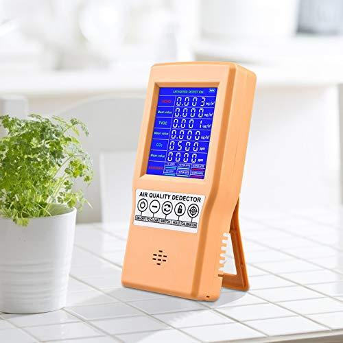 KKTECT Monitor de calidad del aire Detección de formaldehído CO2 TVOC HCHO Detector portátil pequeño de AQI Detección de aire multifuncional profesional para el hogar arios lugares