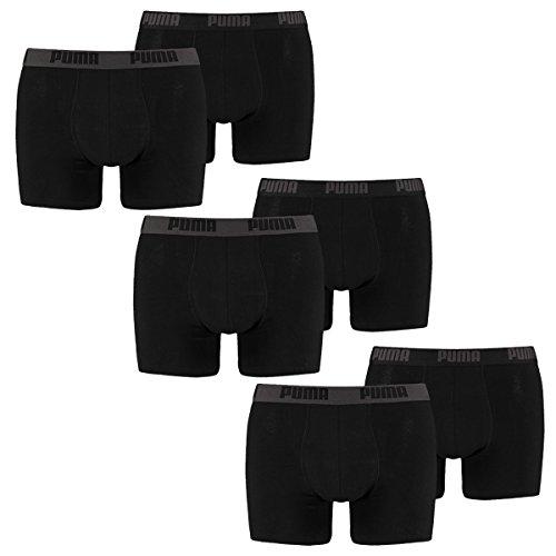 Puma 6 er Pack Boxer Boxershorts Men Herren Unterhose Pant Unterwäsche, Bekleidungsgröße:XXL, Farbe:230 - Black/Black