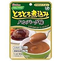 ハウス食品 やさしくラクケア とろとろ煮込みのハンバーグ味 80g×40個入×(2ケース)