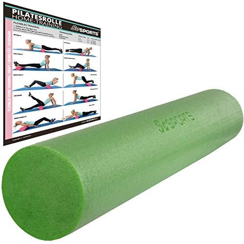 ScSPORTS Pilatesrolle, Gymnastikrolle, Faszienrolle, Schaumstoff, Grün, 15 x 90 cm