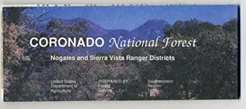 Coronado National Forest Map Nogales Sierra Vista 1989 Arizona New Mexico