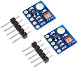 TECNOIOT 2pcs GY-8511 ML8511 UVB UV Rays Sensor Breakout Module Detector Analog Output