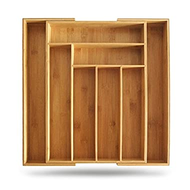 Kitchen Lovers Bamboo Expandable Utensil Organizer
