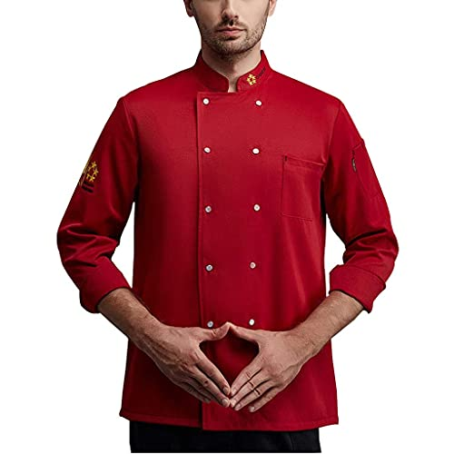 Chef Coat Chef Jacket Unisex Long Sleeve Men's Women's Cool Vent