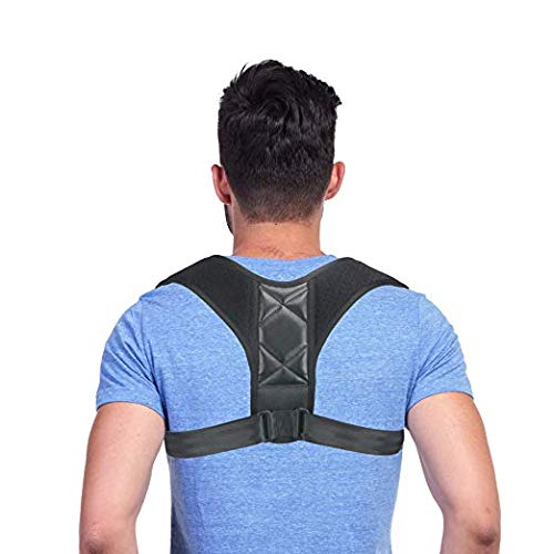 Hecmoks Posture Corrector Back Support Brace for Men and Women  Improves Posture Prevents Slouching and Hunching Reliefs Upper Back and Neck Pain  Adjustable and Comfortable with Underarm Pads