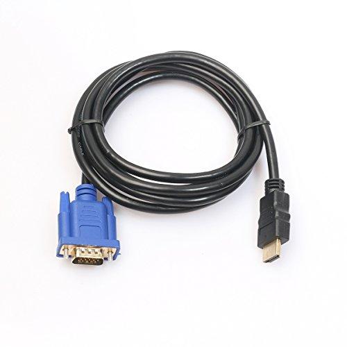 ULTNICE VGA Kabel 3M HDMI Gold-Stecker auf VGA Monitor Kabel(ohne eingebauter Chip)