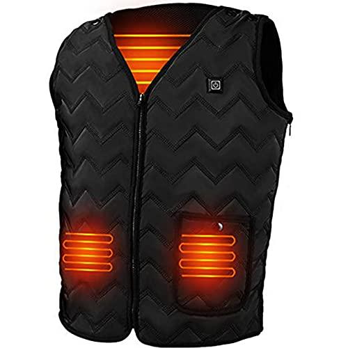 WELLPATH Gilet riscaldato per le donne, gilet riscaldato elettrico USB riscaldato Abbigliamento riscaldato aggiornato per le donne all aperto Campeggio Escursionismo Sci (batteria non inclusa)