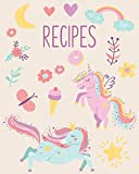 Recipes: Blank Recipe Book for Kids | Create Your Own Personal Cookbook to