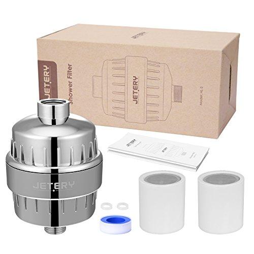 JETERY Duschkopf Wasserfilter, Duschfilter High Output Universalfiltration Filtert Fluorid