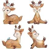 Escultura De Venado De Navidad, Escultura De Venado Acostado, Estatua De Animal, PequeñA Escultura De Venado De Resina, DecoracióN Del Hogar, Oficina O Escultura De Arte De JardíN Al Aire Libre