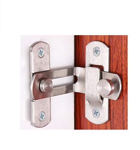 The 90 Door Buckle Bolt barn Door Lock Lock Angolo retto Bending Fermo hasp Porta del bagno e Windows