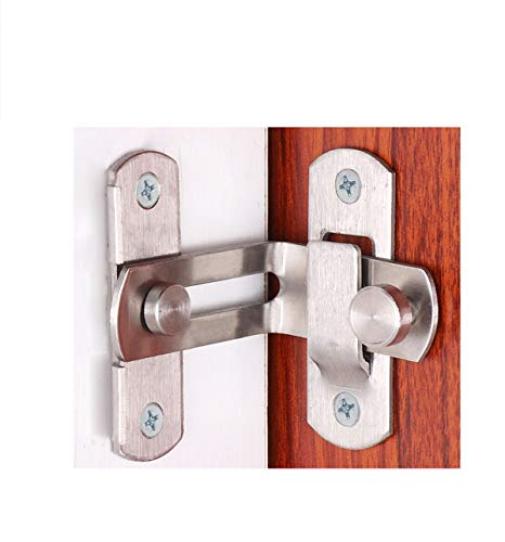 MING Cerradura de puerta de ángulo recto giratoria de 90 grados, cerradura de leva, cerradura de puerta deslizante y cerradura de puerta de granero