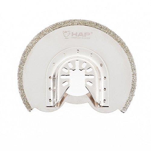 Harpow 10piezas de segmento diamante lechada, potencia herramienta oscilante cuchillas, multiherramienta cuchillas,...