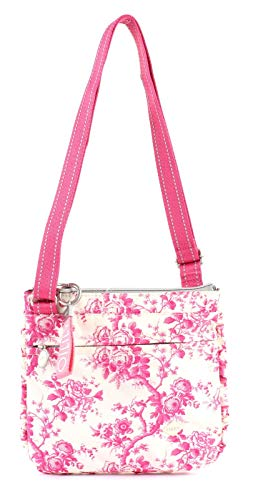 Oilily Damen Birdy Shoulderbag Mvz Schultertasche, Pink (Rose), 6x24x24.5 cm