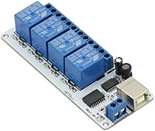 SainSmart USB 4 Channel DC 12V Relay Module Automation for Arduino Raspberry Pi DSP AVR PIC ARM