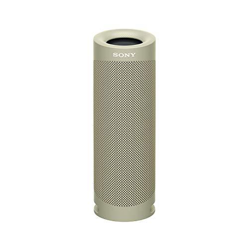 Sony SRS-XB23 tragbarer, kabelloser Bluetooth Lautsprecher (12h Akkulaufzeit, wasserabweisend, Extra Bass), beige