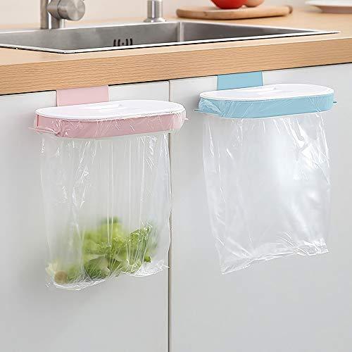 AYADA Schrank-Müllbeutelhalter mit Deckel, 2 Stück, hängender Müllbeutelhalter, Schrank, Plastiktütenhalter über der Tür, Müllbeutelhalter für Küchenschrank, unter Theke, Schublade, Wohnmobil