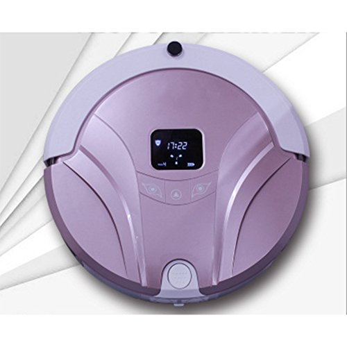 Robotstofzuiger, Home Smart App, absorberend, voor het verwijderen van een borstel, programmeerbare reinigingstijd voor harde vloeren en dunne vloerbedekking. Paars
