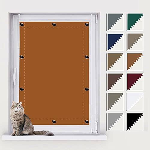 AIYOUVM Dachfenster Hitzeschutz, Fensterrollo Innen, UV Schutz Blickdicht und Thermo Sonnenschutz, Jalousie Ohne Bohren für Beliebige Fenster 90x140cm