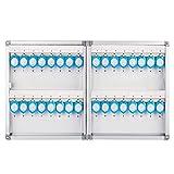 キーボックス キーボックス 壁に取り付けられた不動産業者キーキャビネット管理キャビネットガーデンパスワードキー収納ボックス12/24/32穴 (Color : Silver, Size : 32 holes)