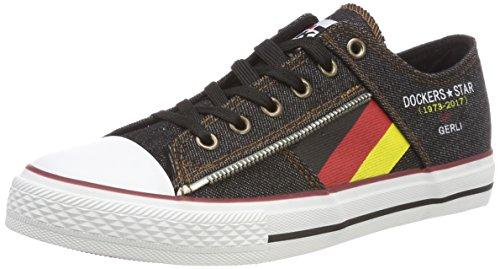 Dockers by Gerli Unisex-Kinder 42BU605-730100 Sneaker, Schwarz (Schwarz 100), 38 EU