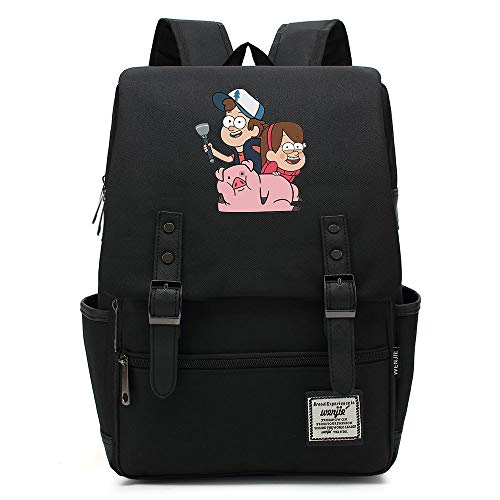 Borsa da scuola Anime Gravity Falls, Uomo Donna Bambini Outdoor Campeggio Escursionismo Zaino da viaggio, Zaino per laptop da 15 pollici 14 pollici. Colore-09.