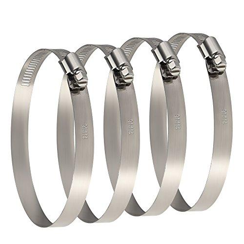 TUPARKA 4Pcs Metall schlauchschellen 91-114 mm Verstellbare Rohrschellen umsschelle zur Befestigung Rohren