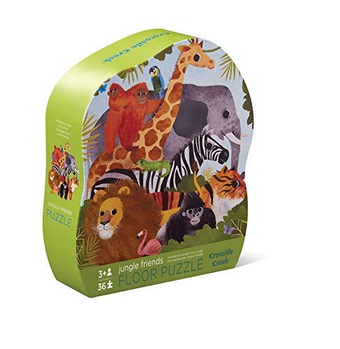 Bertoy- Jungle Friends Floor Puzzle Animals Rompecabezas de Piso, Color Green, 1 EA (4076-3) (Juguete)