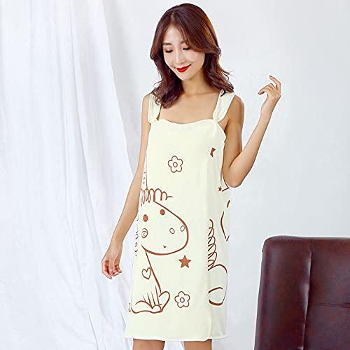 Albornoces de fibra de poliéster brocado versátil toalla de baño para mujer mágica puede llevar una falda de baño suspendida 80 x 135 pulgadas, absorbente espesado, 80 x 135 cm, color amarillo