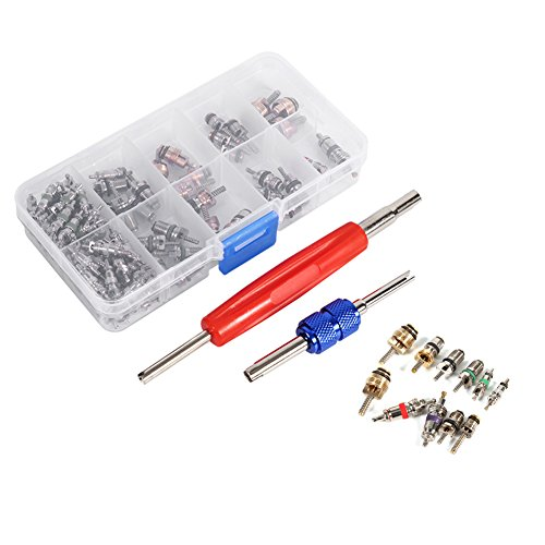 Universal 102 stücke Klimaanlage Ventileinsatz Zubehör A / C R134a / R12 Ventileinsatz Stem Remover Tool Sortiment Kit