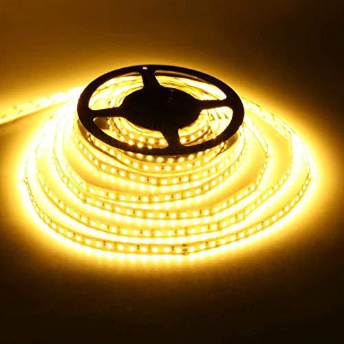 Striscia LED 5M Bianco Caldo 2700K LED Striscia 2835 SMD 600 LED IP20 Non-Impermeabile Strisce LED DC12V CRI80 Flessibile, per Interni Soggiorno Completo con Alimentazione 12V 5A