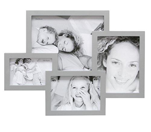 Deknudt Frames S65SJ3 Cadre Multi-Photos avec 4 Ouvertures Argenté 52 x 40,5 x 2,5 cm