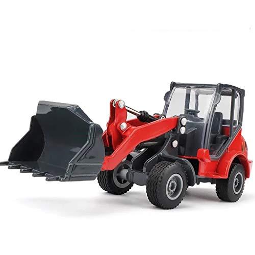 IIIL 1:60 Cargador Ruedas Modelo Bulldozer Camión Ingeniería Aleación, Modelo Automóvil Cargador Frontal Tractor Construcción Regalos Juguete para Niños,Amarillo