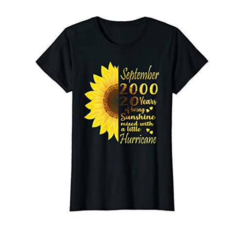Womens September Girls 2000 Tee 20th Birthday Gifts 20 Years Old T-Shirt