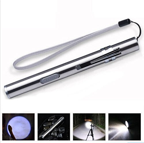 KIICN Mini lampe de lampe torche LED extérieure pour lampe de poche porte-clé rechargeable USB 500lm