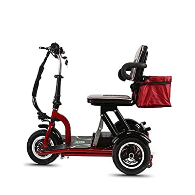YHXJ Folding Mobility Scooters, 3 Wheeled Electric Mobility Scooter, Electric Mobility Scooter, 3 Speed Adjustment, 20km/H, Suitable For the Elderly, the Disabled, Adults