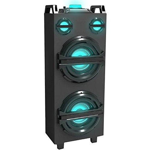 Cassa Altoparlante Speaker a Torre Bluetooth Akai con 2 Casse da 10W Luci a LED Display Entrata AUX...