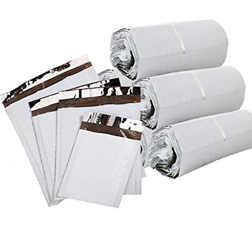 Mengger Bolsas de plástico para envíos postales Polietileno grandes Autoadhesivas Embalaje Sobres de Envío Correo postal postales 100pcs Tamaños múltiples 16x22cm,17x30cm,20x30cm,25x35cm