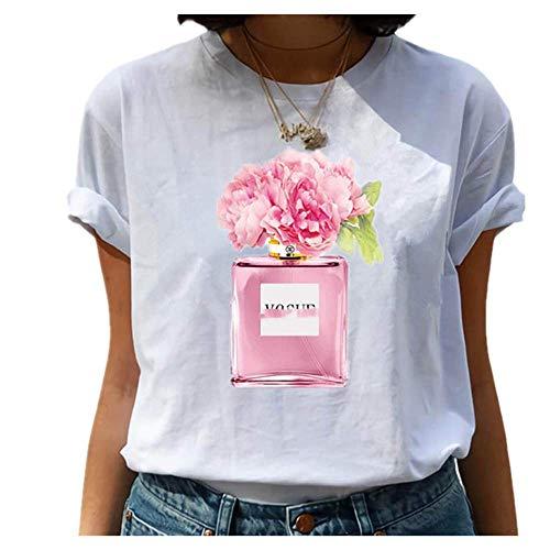 N\P Amigos T Shirt Verano Mujeres Manga Corta Ocio Casual Señoras Camisetas Mujer Ropa - - Small