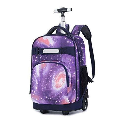 LGXXB Trolley Bag-Tilami Bambini rotolamento Zaino Armatura Bagagli Scuola Travel Book Laptop 18 Pollici Multifunzione Wheeled Backpack Studenti (Color : C)