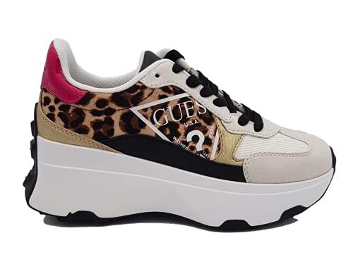 Guess Leopa FL7CBB PEL12 - Reloj de mujer con estampado de leopardo Amarillo Size: 36 EU